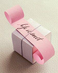 Vestir a la Caja Básica - Martha Stewart Weddings Favores