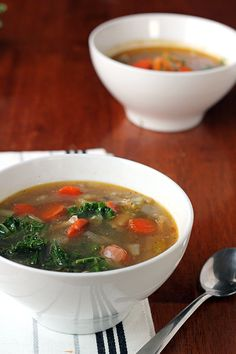 Chicken and Kale Soup - In Sonnets Kitchen