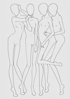 Fashion croquis templates - corpi figurini base moda 2 | Fashion & Design