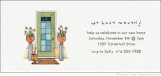Front Doors - We Have Moved - Personalize your own stationery with a name, message or invitation. Sold in boxed sets of 8 cards. hautenote.com Personalized Invitations, Front Doors, Invites, Rsvp, Announcement, Note, Messages, Cards, Customized Invitations