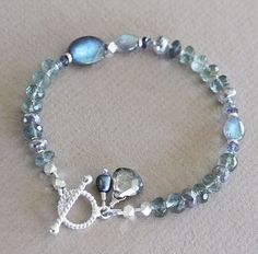 U-C-Sundance-Labradorite-Moss-Aquamarine-Iolite-925-Sterling-Silver-Bracelet