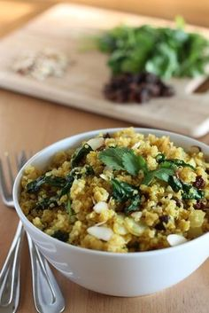Curried Quinoa with Spinach and Almonds