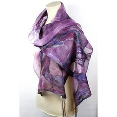 Nuno Felted silk Scarf - Hand Dyed   Flickr - Photo Sharing!