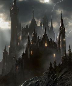 Pin by Ramona Wiese on Halloween Fantasy landscape Fantasy castle Castle art