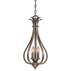 Vaxcel Lighting PD35459 3 Light Monrovia Small Chandelier    powder rm?