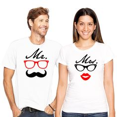 Mr and Mrs Couple T-shirt set