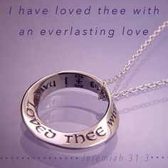 "Quote of the Week: ""I have loved thee with an everlasting love"" -Jeremiah  #Jeremiah #handmade #jewelry #sterlingsilver #necklace #nyc #love"