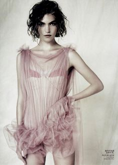 Vogue China April 2011, Shot by Paolo Roversi, Styling by  Nicoletta Santoro, Model  Arizona Muse in Vera Wang