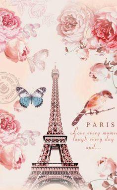 Torre Eiffel Paris, Tour Eiffel, Paris Images, Paris Pictures, Decoupage Vintage, Decoupage Paper, Cute Wallpapers, Wallpaper Backgrounds, Image Paris