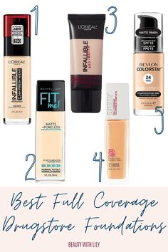 Full Coverage Drugstore Foundation, Best Foundation, Makeup Foundation, Korean Beauty Tips, Beauty Blogs, Beauty Hacks, Amazon Beauty Products, Best Makeup Products, Glam Makeup