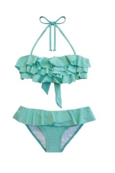 Soo cute!! summer. i want a ruffle top swimsuit in this color!