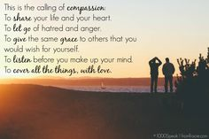 A beautiful post explaining true Compassion by Tracie Nall of From Tracie. #1000Speak #compassion