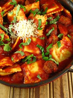 Quick Ravioli with Sausage Meatballs   Miss in the Kitchen