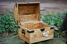Extra Large Rustic Wooden Card Box - Rustic Wedding Card Box - Shabby Chic…