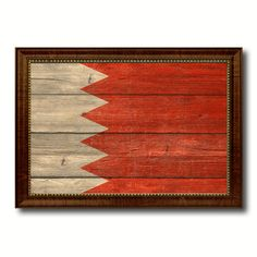 Bahrain Country Flag Texture Canvas Print, Custom Frame Home Decor Gift Ideas Wall Decoration