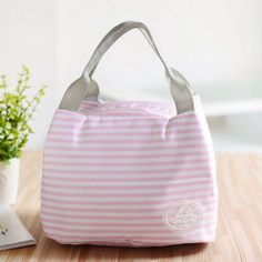 Portable Thermal Insulated Lunch Bag Lunchbox Storage Bag Lady Carry picinic Food Tote