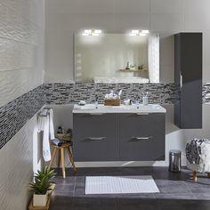Du gris et du blanc pour la salle de bains