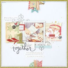 Christmas Together by natalieelph at @Studio_Calico  Love the banner flags at the top and bottom borders.