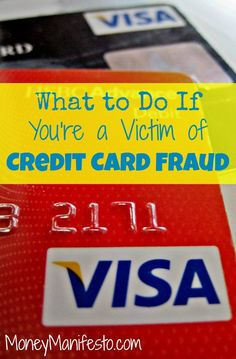 Credit card fraud sucks. I was recently a victim of credit card fraud and didn't know what to do. Luckily, I shared my experience and what to do in case someone steals your credit card information or you're hit with your own case of credit card fraud or identity theft on the linked post on MoneyManifesto.com.