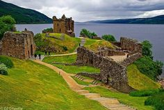 Urquhart Castle, Loch Ness, Scotland - Ed OKeeffe @ edwud.com  Visit the Loch Ness monster only a 2 hour car journey from Aberdeen!!