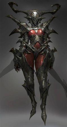 Female knight with strange armor