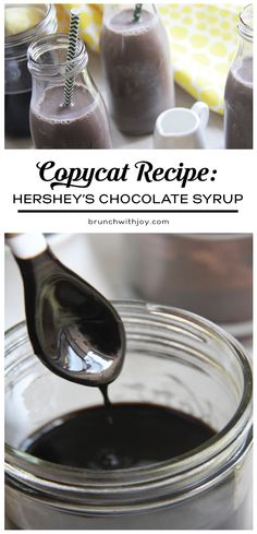 A handful of ingredients creates the best chocolate syrup ever! Scoot over, Hersheys. #copycatrecipe #SundaySupper