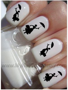 80 Mary Poppins Nail Decals Nail Art Waterslide Decals by MyNailCandy, $4.89 www.MyNailCandy.etsy.com
