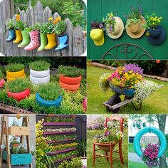 32 most creative and unique planter tutorials! How to make your own plating containers from from up-cycled and re-purposed objects and materials! - A Piece Of Rainbow Blog