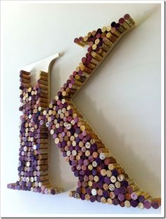 Anthropologie wine cork letter, and 10 other wine cork DIY projects!