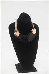 Betsey Johnosn Black Heart Necklace