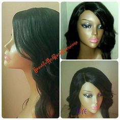 """New Unit Alert! Lace Front Wig, 12"""" lace frontal with 200grams of our Natural Straight full cuticle extensions from the Flawless Collection."""