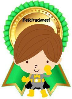 Fichas de Primaria: Medallas escolares Stickers Online, Rubrics, Luigi, Tweety, Joy, Superhero, Education, Fictional Characters, Tips
