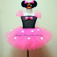Pink Minnie Mouse tutu Dress size06 mons 6mons 24 by MTCCollection, $40.00