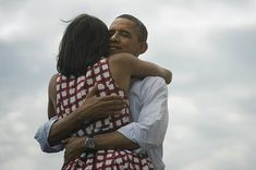 This is the most retweeted/shared/liked photo ever in the history.    I love everything about this photo. The love, the relief, the win. Four more years of the Obama Presidency is a good thing.