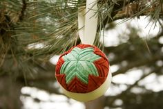 Cathedral Window Quilted Fabric Ball Ornaments by SimpleBeans