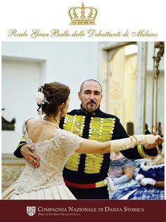La compagnia nazionale di danza storica a milano al reale gran ballo delle debuttanti APRE LE DANZE www.ballodebuttantimilano.it