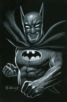 Batman - Black Board, Greg Hildebrandt