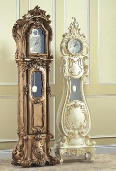 Victorian Grand Father Clock 406-A. The one on the left is kind of cool.