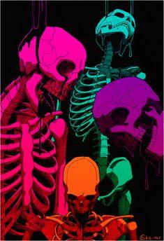 Ask me anything🗣cancer🌞Aries🌑cancer rising☄️ cancer ⤴️ Foto Fantasy, Fantasy Art, Arte Horror, Horror Art, Vexx Art, Tableau Pop Art, Skeleton Art, Arte Obscura, Dope Art