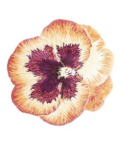 This Orange Pansy Rug by Nourison is perfect! #zulilyfinds