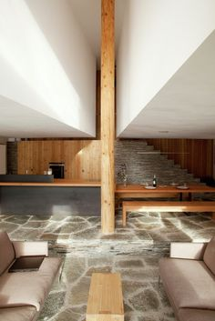 Restoration of a Farm in the French Alps / Pierre-Doucerain #wood #interiordesign