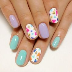 Triangle Studded Nail Design