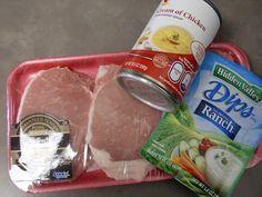 Ranch Crock Pot Pork Chops - SOOOOOOO good and SUPER easy.