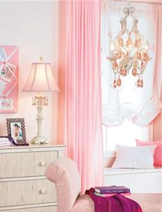 Pink girl's bedroom.