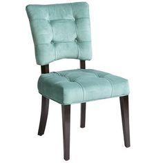 """Fionn Dining Chair - Aquamarine, $150. each, Aquamarine 19.25""""W x 24.75""""D x 36.25""""H Birch wood, polyester, polyether foam, item: 2693517"""