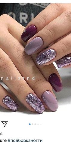 Bright Nails, Purple Nails, Color Nails, Nice Nail Colors, Different Colour Nails, Bright Colored Nails, Colourful Nails, Violet Nails, Purple Nail Polish