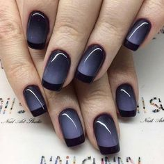 Love the Ombre color of these nails