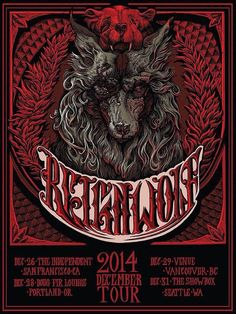 Reignwolf tour poster by AR Ghrist