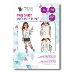 Free Spirit Blouse & Tunic Sewing Pattern