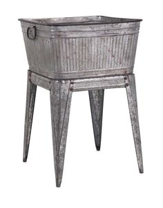 Perfect for entertaining among many other uses, this galvanized tub features a raised design to keep drinks ice cold and within easy reach in an aged style that brings back memories of the old days. P